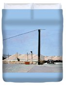 Gravel Piles Downtown La Duvet Cover