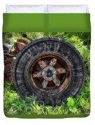 Gravel Pit Goodyear Truck Tire Duvet Cover