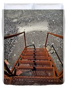 Gravel Pit Grinder Rusty Staircase Duvet Cover
