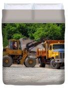 Gravel Pit Loader And Dump Truck 01 Duvet Cover