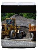 Gravel Pit Loader And Dump Truck 04 Duvet Cover