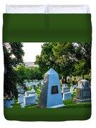 Graves At Sunrise Arlington Cemetery Duvet Cover