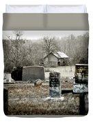 Graveyard Barn Duvet Cover