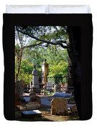 Graveyard In Charleston Duvet Cover
