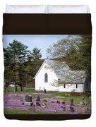 Graveyard Phlox Country Church Duvet Cover