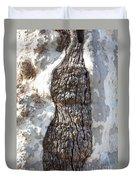 Gray Bark Abstract Duvet Cover