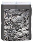 Gray Bark Duvet Cover