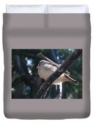 Gray Crowned Rosy Finch   Duvet Cover