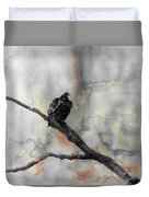 Gray Day Vulture Duvet Cover