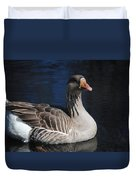 Gray Duck Duvet Cover