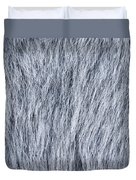 Gray Fake Fur Horizontal Duvet Cover