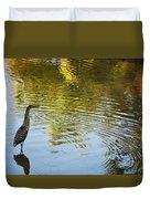 Gray Heron  Duvet Cover