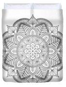 Gray Mandala Duvet Cover