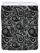 Gray Paisley Design Duvet Cover