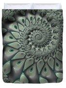 Gray Spiral Duvet Cover