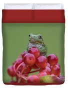 Gray Tree Frog Duvet Cover