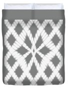 Gray Twisted Braids Duvet Cover