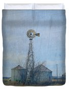 Gray Windmill 2 Duvet Cover
