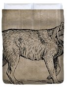Gray Wolf Timber Wolf Western Wolf Woods Texture Duvet Cover