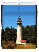 Grays Harbor Light Station Duvet Cover