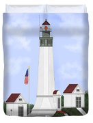 Grays Harbor Light Station Historic View Duvet Cover