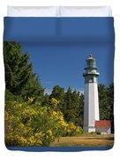 Grays Harbor Lighthouse H Duvet Cover