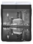 Grayscale Columbus Duvet Cover
