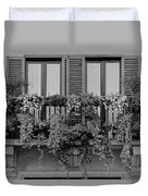 Grayscale Foliage Duvet Cover