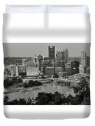 Grayscale Pittsburgh Duvet Cover