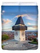 Graz Sunset Panorama Duvet Cover