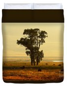 Grazing Around The Tree Duvet Cover