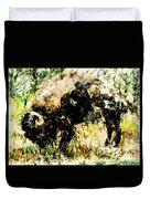 Grazing Bison Duvet Cover