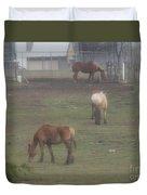 Grazing Horses Duvet Cover