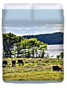 Grazing With A View Duvet Cover