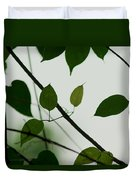 Green Leaves 2 Duvet Cover