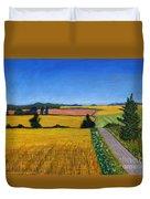 Great Bedwyn Wheat Fields Painting Duvet Cover