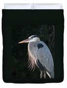 Great Blue At Rest Duvet Cover