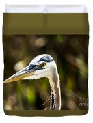 Great Blue Heron At Green Cay Duvet Cover