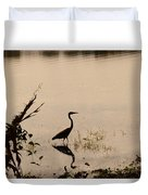 Great Blue Heron At Rollins Duvet Cover