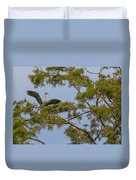 Great Blue Heron In Cypress  Duvet Cover