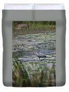 Great Blue Heron In Maine  Duvet Cover