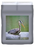 Great Blue Heron Wading Duvet Cover
