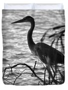 Great Blue In Black And White Duvet Cover