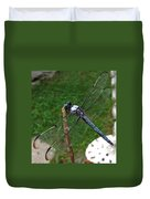Great Blue Skimmer Duvet Cover