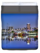 Great Blue Water Reflections Duvet Cover