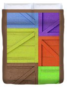 Great Crates - Multicolored Packing Boxes Stacked Duvet Cover