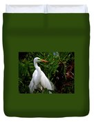 Great Egret Nesting Duvet Cover