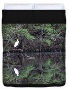 Great Egret Resting Duvet Cover