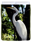 Great Egret Up Close Duvet Cover
