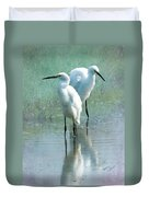 Great Egrets Duvet Cover